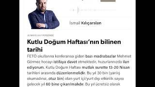 Kutlu Doğum Haftası'nın bilinen tarihi /  İsmail Kılıçarslan / Yeni Şafak / 25.05.2017