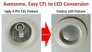 Superior Method for 4 Pin / G24 Socket CFL to LED Conversion  with Ballast Bypass