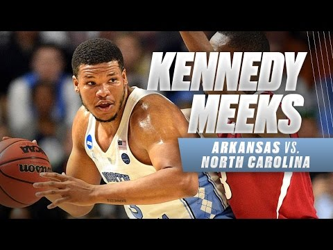 Meeks double double helps North Carolina survive Arkansas