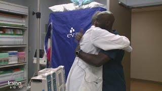 P.E. teacher survives massive heart attack with lesson for students
