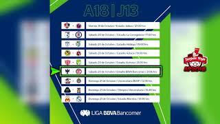 ⚽ Próximos Partidos, Horarios y Transmisiones | JORNADA 13 Apertura 2018 | Liga Mx