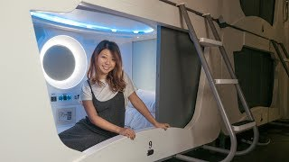 CUTEST CAPSULE HOTEL EXPERIENCE! Taiwan Travel Vlog