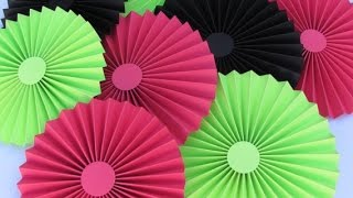 DIY Paper Crafts :: How to make simple Paper ROSETTES// SPRING FLOWERS - Innovative Arts
