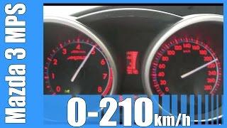 Mazda Speed 3 MPS 0-210 km/h NICE! Acceleration Test Beschleunigung Autobahn