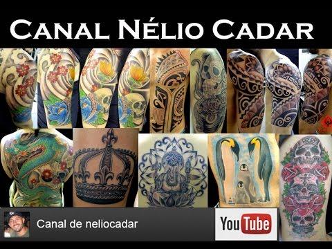 077 Nélio Cadar tatuando Netuno com Tubarão martelo João