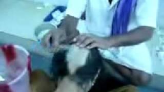 Indian women head shave at Tirupati