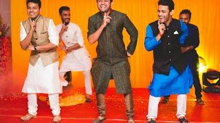 Cutest dance by Bride's brother & friends- Sangeet dance performance on kar gayi chul