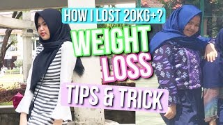 WEIGHT LOSS STARTER KIT TIPS! ♡ HOW I LOST 20KG+? WEIGHT LOSS TIPS & TRICK! - Indonesia