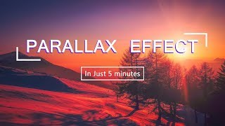 Parallax Effect HTML CSS In Just 5 Minutes | Parallax Scrolling Tutorials