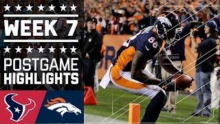 Texans vs. Broncos (Week 7) | Game Highlights | NFL