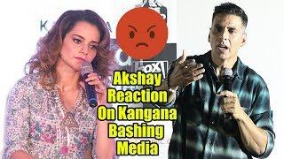 Akshay Kumar Reaction On Kangana Vs Media FIGHT | Mission Mangal Trailer Launch