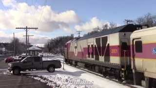 MBTA Commuter Rail Trains in Central Massachusetts