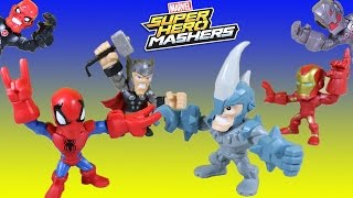 Marvel Super Hero Mashers Micro Spiderman vs Rhino Adventure w/ Thor, Ironman, Elsa, Olaf & Ultron!