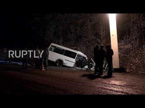 Xxx Mp4 Russia 15 Dead In Bus Timber Transporter Crash In Mari El 3gp Sex