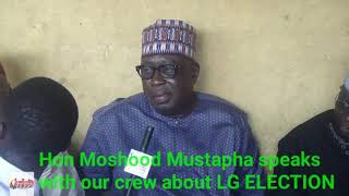 Hon Moshood Mustapha speaks with Just Event online crew on LG ELECTION at his Polling Unit Isale Alu