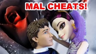 Disney Descendants SCANDAL! Mal cheats w Prince Charming? Doll parody full movie