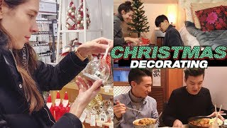 VLOG: Christmas Decorating 🎄 | Hanging w/ Friends & Family 국제커플 브이로그 크리스마스 장식