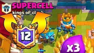 12. GALİBİYET İÇİN SUPERCELLE SAVAŞTIM! - Clash Royale 3 Kat İksir Mücadelesi