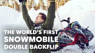 How Daniel Bodin Stomped the World's First Snowmobile Double Backflip