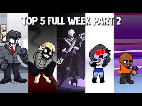 Top 5 Mods Full Week in Anders Brightside X Event Sky & Matt Friday Night Funkin 2
