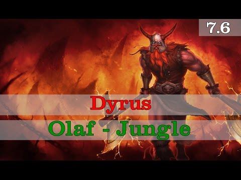 Dyrus - Olaf vs Hecarim - Jungle Season 7 Patch 7.6 (Ranked GamePlay)