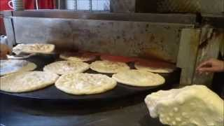 Indian Street Food: fresh Garlic & Cheese Naan Wrap + Garlic Naan from Ararat Bread, Dalston, London