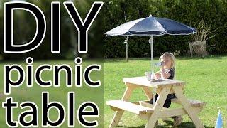 DIY kids picnic table.