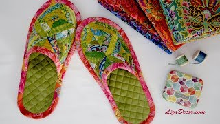 Slippers patchwork - FREE download pattern LizaDecor.com