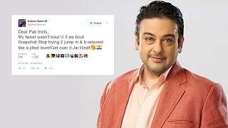 Adnan Sami SHUTS Pakistani Trolls For Uninstalling Snapchat