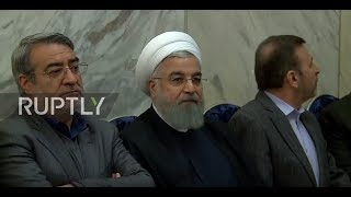Iran: Iranian President attends ceremony in memory of lost