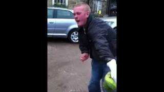 Chris Moyles getting attacked by a wild Parrot haha