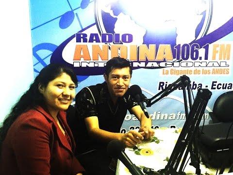 Karina Caiza en Radio Andina 106.1 FM _ Saludos en