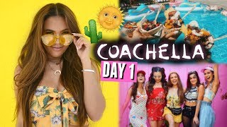 COACHELLA 2018 DAY 1🌵🌞 | Celebs, pool parties, and a new squad formation