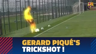 MOVE OF THE WEEK #14 | Gerard Piqué's trickshot from behind the goal!