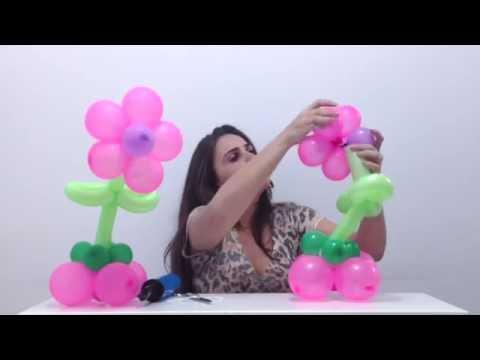 Flor de Balões Para Centro de Mesa Passo a Passo