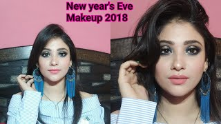 NEW YEAR EVE party Makeup|| 2018 halo eye makeup || shystyles