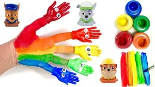 Best Learning Colors Video for Children - Family Finger Nursery Rhyme Song Paw Patrol