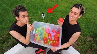 CRAZY WATER BALLOON PRANK ON LITTLE SISTER!