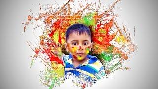 Creative Face Photo Menipuletion - Paint Splash using Brush