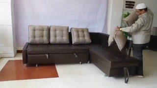 Sofa Cum Bed made with Stainless steel