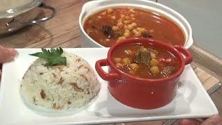 Etli Nohut Yemegi + Pirinç Pilavı Tarifi(aksam yemegi önerisi)