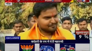 Exclusive Talk BJP Candidate Prateek Bhushan Singh outside Polling Booth in Gonda