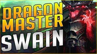 NEW DRAGON MASTER SWAIN SKIN IS SO FREAKING AWESOME!! Dragon Master Swain Gameplay Season 8 - PBE