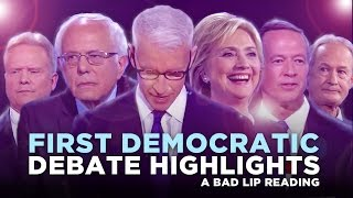 """FIRST DEMOCRATIC DEBATE HIGHLIGHTS: 2015"" —- A Bad Lip Reading of the First Democratic Debate"