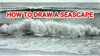 Should You Use Fixative on Graphite Drawings ? How to Draw Seascapes - Waves - Water