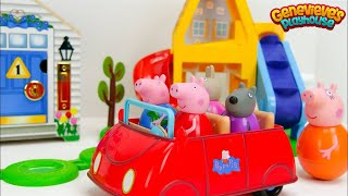 Peppa Pig and Paw Patrol Weebles Toys play on our Toy Playgrounds!
