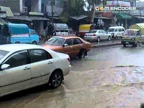 hangu after rain in bazar