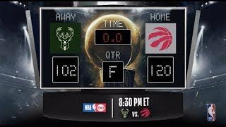 Bucks @ Raptors LIVE Scoreboard - Join the conversation & catch all the action on #NBAonTNT!