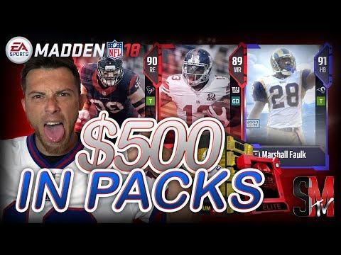 500 DOLLAR PACK OPENING! LEGEND & ELITE PULLS MADDEN 18 ULTIMATE TEAM PACK OPENING