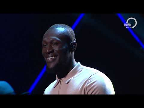 Stormzy performs Crown with Chris Martin Global Citizen Prize 2019